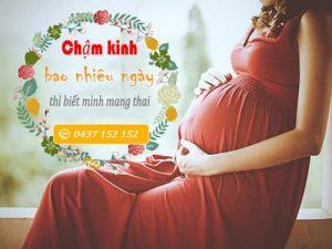 chậm kinh bao lâu thì có thai