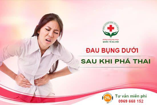 đau bụng dưới sau khi phá thai bằng thuốc