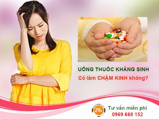 Uống thuốc kháng sinh có ảnh hưởng đến kinh nguyệt