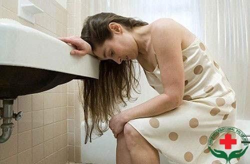 ra chất nhầy màu nâu khi mang thai