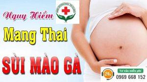 Sùi mào gà khi mang thai