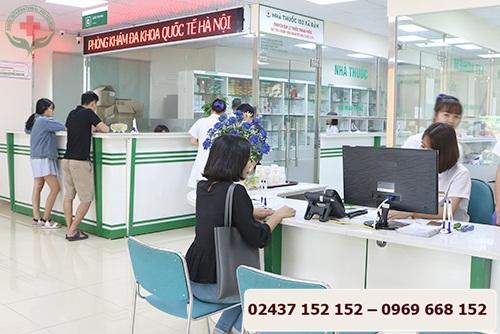 phòng khám đa khoa quốc tế Hà nội khang trang, rộng rãi
